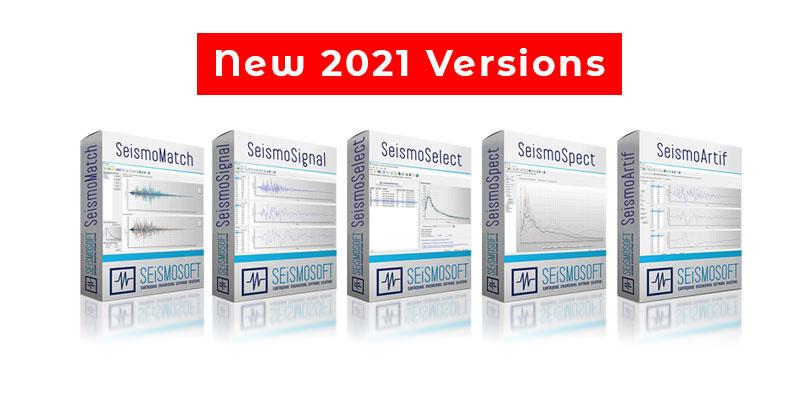 SeismoSoft Apps 2021 versions