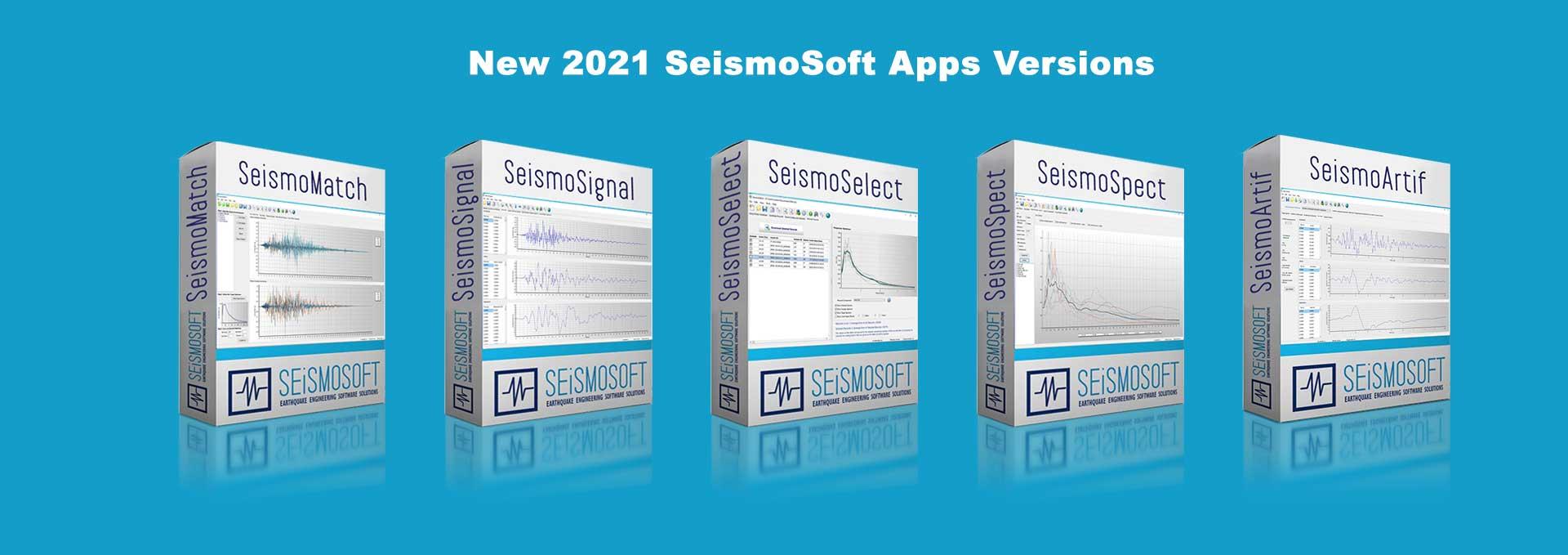 New Seismosoft 2021 Apps